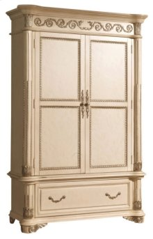 Sienna Antique White Armoire - 54''L x 24''D x 83''H