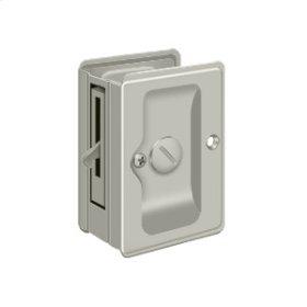 "HD Pocket Lock, Adjustable, 3 1/4""x 2 1/4"" Privacy - Brushed Nickel"