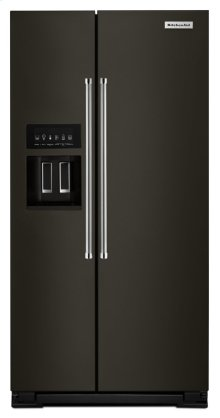 22.7 Cu. Ft. Counter Depth Side-by-Side Refrigerator with Exterior Ice and Water - Black Stainless