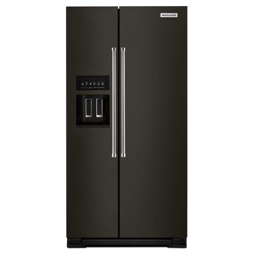22.7 Cu. Ft. Counter Depth Side-by-Side Refrigerator with Exterior Ice and Water - Black Stainless Steel with PrintShield™ Finish