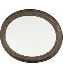 Oval Wood Mirror