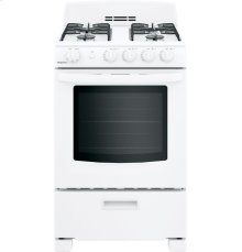 """Hotpoint® 24"""" Front-Control Free-Standing Gas Range with Large Window"""