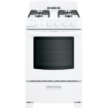 "Hotpoint® 24"" Front-Control Free-Standing Gas Range with Large Window"