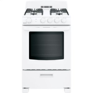 "HotpointHotpoint(R) 24"" Front-Control Free-Standing Gas Range with Large Window"