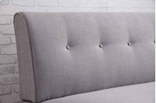 8337 Light Gray Armless Loveseat