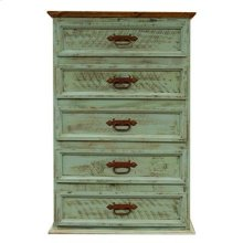 """Chest : 34"""" x 19"""" x 51"""" Turquoise Washed Collection"""