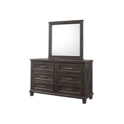 1046 Cimarron Rustic Java Valspar Dresser with Mirror