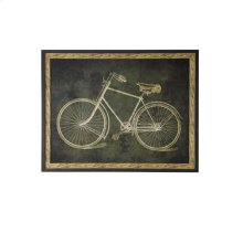Textured Print of A Bicycle Framed With