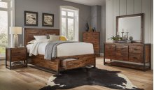 Loftworks 3 Piece Queen Bedroom Set: Bed, Dresser, Mirror