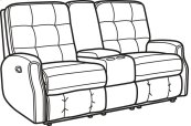 Devon Fabric Reclining Loveseat with Console and without Nailhead Trim