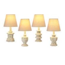 Distressed Ivory Accent Lamp. 40W Max. (4 pc. ppk.)