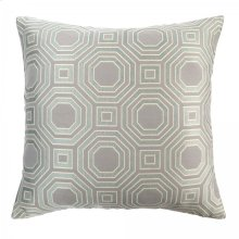 Warren Contemporary Decorative Feather and Down Throw Pillow In Mist Jacquard Fabric