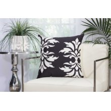 "Outdoor Pillow As065 Black 20"" X 20"" Throw Pillow"