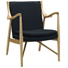 Makeshift Upholstered Fabric Lounge Chair in Birch Black