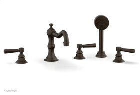 HENRI Deck Tub Set with Hand Shower with Lever Handles 161-49 - Antique Bronze