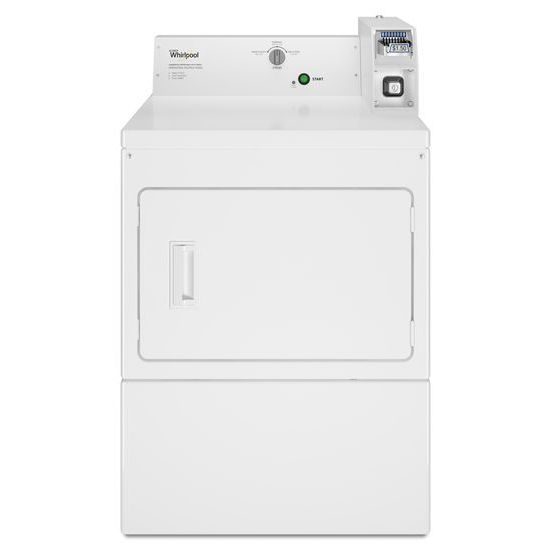 Whirlpool(R) Commercial Electric Super-Capacity Dryer, Coin-Slide and Coin-Box - White