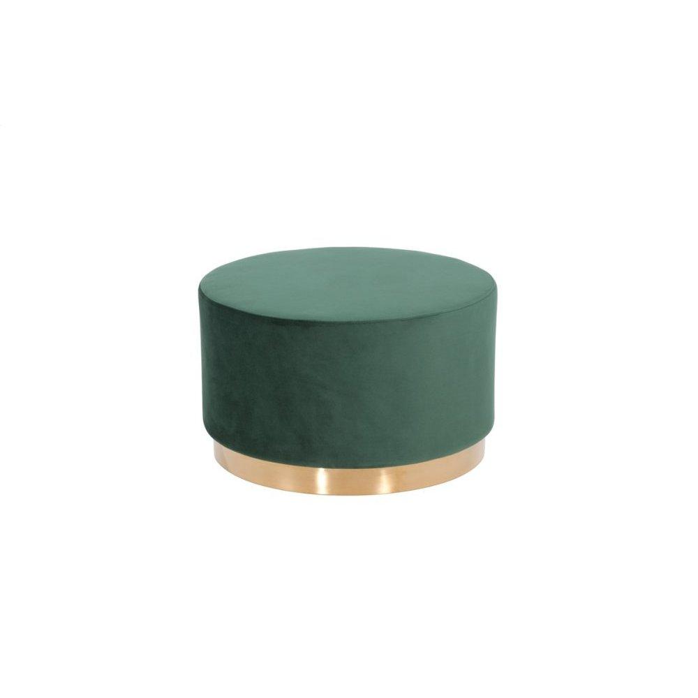 Modrest Santee Modern Green Velvet & Gold Ottoman