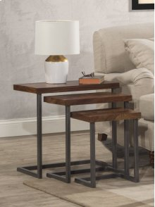 Emerson Nesting Tables - Set of 3 - Natural Sheesham