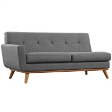 Engage Left-Arm Loveseat in Gray