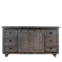 Roddy Boxcar Buffet with 2 Sliding Doors, 6 Drawers and 4 Casters