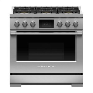 "Fisher & PaykelDual Fuel Range, 36"", 6 Burners, Self-cleaning"