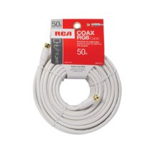 RCA 50 Ft Digital RG6 Coaxial Cable - White