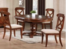 Sunset Trading 5 Piece Andrews Butterfly Leaf Dining Table Set in Chestnut - Sunset Trading