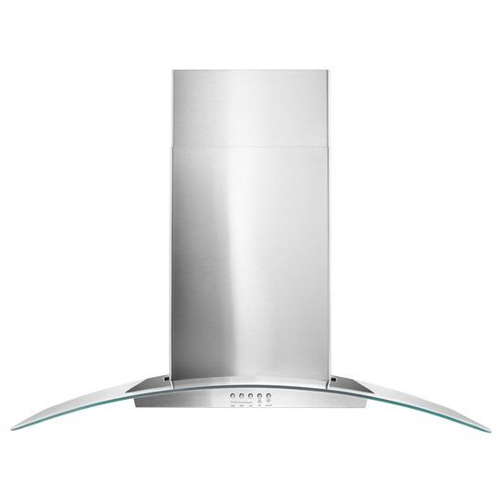 """36"""" Concave Glass Wall Mount Range Hood - stainless steel  STAINLESS STEEL"""