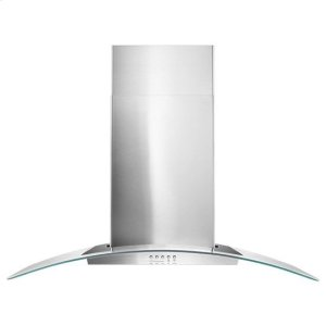 "AMANA36"" Concave Glass Wall Mount Range Hood - stainless steel"