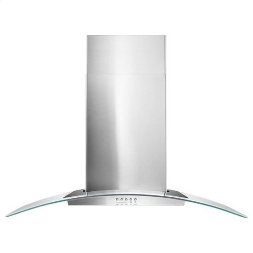 """36"""" Concave Glass Wall Mount Range Hood - stainless steel"""