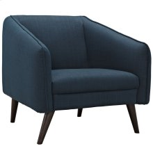 Slide Upholstered Fabric Armchair in Azure
