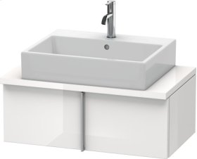Vero Vanity Unit For Console Compact, White High Gloss (decor)