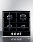 4-burner Gas-on-glass Cooktop With Sealed Burners and Cast Iron Grates Product Image