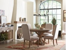 Complete Round to Oval Pedestal Table