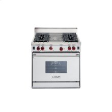 "36"" Gas Range - 4 burners, Charbroiler"