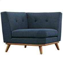 Engage Upholstered Fabric Corner Sofa in Azure