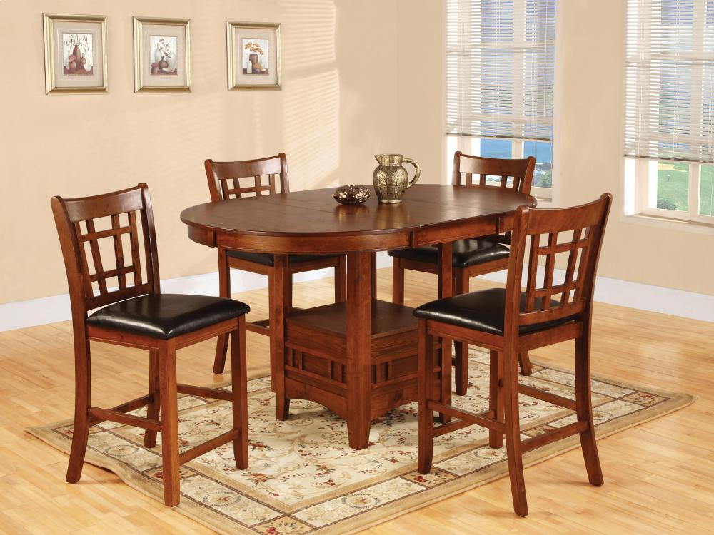 5 Piece Pub   Table With Four Pub Chairs Hidden