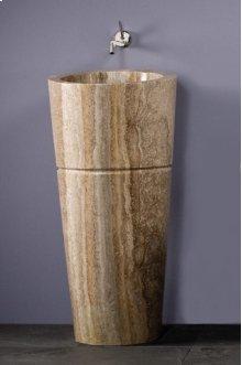 Veneto Pedestal Sink Silver Travertine - *DISPLAY* - 1x Available