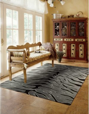 Contour Con30 Blkgy Rectangle Rug 8' X 10'6''