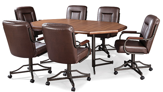 DB64TZ In By Douglas Casual Living In Spencer, IN   Table Base: Twin Legs  (bronze)