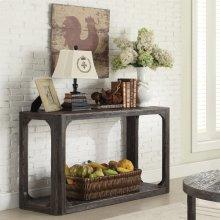 Sofa Table - Weathered Worn Black Finish