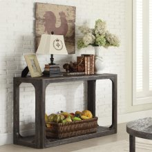 Sofa Table - Weathered Worn Black Finish