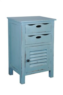 Sunset Trading Cottage Beach Blue Accent Table