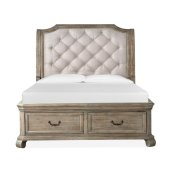 Complete Queen Sleigh Storage Bed