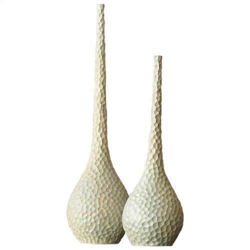 Chiseled Birds Egg Vase-Sm