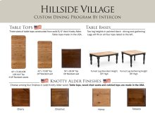 Hillside Village Dining Room Furniture