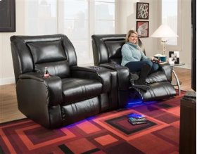 Lay-Flat Recliner with LED CupHolders & Floor Lighting