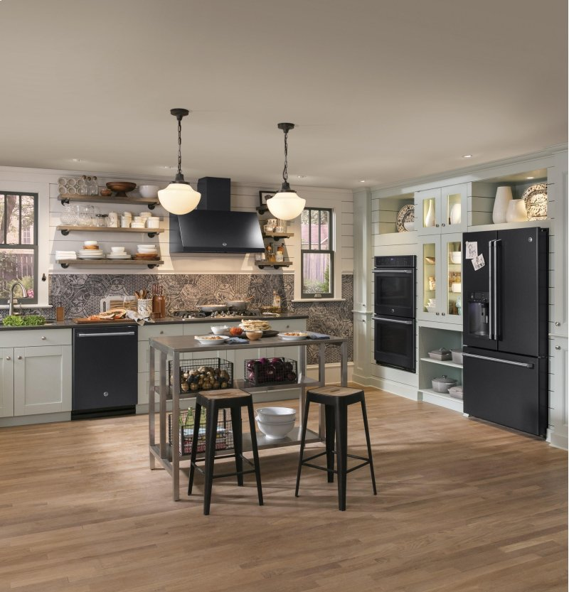 ge cafe series energy star 222 cu ft counter depth french - Slate Cafe Decoration