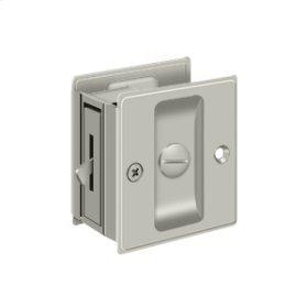 "Pocket Lock, 2 1/2""x 2 3/4"" Privacy - Brushed Nickel"