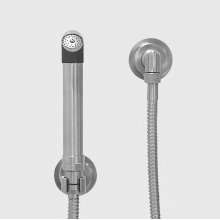 Nouveau Stainless Steel Wall Mount Handshower Set with Wall Bracket and Waterway